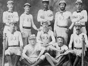 English: Baseball uniform(s) in the 1870's
