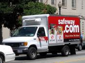 English: A Safeway.com delivery truck (operated by Safeway Inc.) seen in Washington