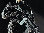 Bale as John Connor in Terminator Salvation
