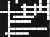 English: Procrastination Crossword