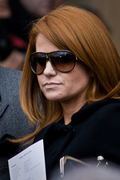 Patsy Palmer at the funeral service for actress Wendy Richard at St Marylebone Parish Church.