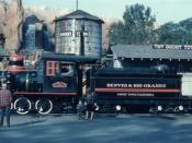 Knotts Berry Farm Denver & Rio Grand steam locomotive, 1963