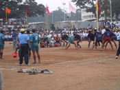English: A game of Kabaddi in progress in Mysore, Karnataka, India