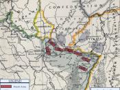 Franco-Prussian War map of 1870