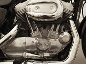 English: 2006 Sportster 883 Evolution engine