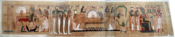 Merged photos depicting a copy of the Ancient Egyptian papyrus depicting the jounrey into the afterlife. This version is known as