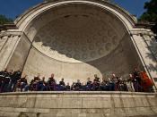 Parris Island Marine Band performs at Central Park Band Shell for Fleet Week New York 2011