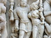 Kama sur le temple de Parshvanath (Khajuraho)
