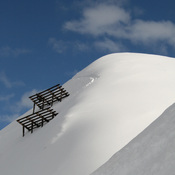 Avalanche control above the top station Versettlabahn in the ski resort of Montafon Silvretta Nova in Vorarlberg. Français : Pare-avalanches au dessus de la station d'altitude de Versettlabah, dans le domaine skiable de Montafon Silvretta. Vorarlberg, Aut