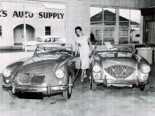 Paoli Bros. Inc., MG-Austin-Jaguar, Eureka CA, 1956