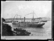 GULF OF MARTABAN departing Cowper Street wharf in Woolloomooloo Bay