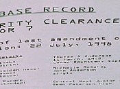 A record from Agent Smith's file on Anderson displaying basic facts about Anderson including his birthday and his early history.