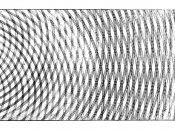 Thomas Young's sketch of two-slit diffraction, which he presented to the Royal Society in 1803