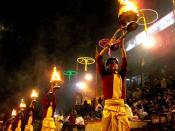English: Hindu ritual in Varanasi
