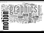 Motion Graphics Wordle