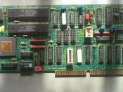 English: This is a 1987 Madge Networks Token Ring 4/16Mbps switchable Network Interface card. It can be slotted in any ISA compatible bus.