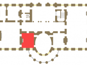 White House State Floor showing location of the Red Room.