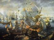 The Explosion of the Spanish Flagship during the Battle of Gibraltar by Hendrick Cornelisz Vroom.