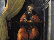 St. Augustine writing, revising, and re-writing: Sandro Botticelli's St. Augustine in His Cell