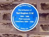 TED HUGHES PLAQUE