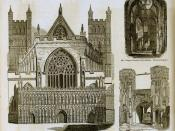 English: From Charles Knight's Pictorial Gallery of Arts (1858). English Gothic revival architecture, decorate style.