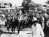 Anzac Day at Manly, Brisbane, Australia, 1922.