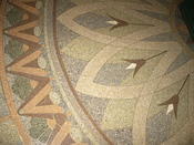 Detail of a terrazzo floor in Severance Hall