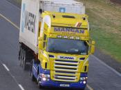 Mangan Haulage from Staffan Co. Kildare Ireland with a 2005 Scania R500