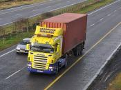Mangan Haulage Straffan Co. Kildare with a 2005 Scania R470 and Container