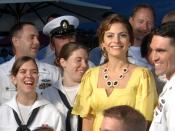 English: CANNES, FR - Sailors assigned to the aircraft carrier USS Harry S. Truman (CVN 75) appear on the television show