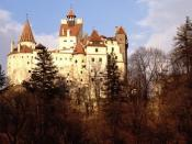English: Bran Castle (view from south) near Braşov in Transylvania.