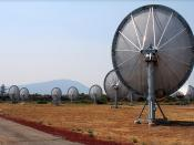 If you're a satellite buff, I've got some frontal shots of these dishes too. Yeah, they do actually seek extraterrestrial life on some days. SETI (Search for Extraterrestrial Intelligence) is working on 350 of these and some never-before-seen technology t
