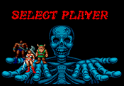 Beat 'em ups such as Golden Axe often allow players to choose from several protagonists, each with different fighting styles, strengths and weaknesses.