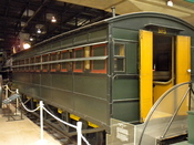 English: Camden Amboy Coach No. 3at the Railroad Museum of Pennsylvania, east of Strasburg, PA. Built 1836, retired c. 1865, seating capacity 48 passengers, weight 14,250 lbs. length 35 ft. 7 inches. 2nd oldest extant passenger car in America