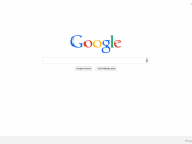 English: The Google search homepage, viewed in Google Chrome.