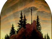 Cross in the Mountains (Tetschen Altar) by Caspar David Friedrich.