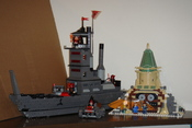 The only two LEGO Avatar: The Last Airbender made in 2006: Fire Nation Ship (L) and Air Temple (R).