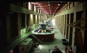 Hoover Dam hydroelectric generators 1991 Scan of a negative