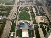 Millennium Park, Chicago, IL, USA from Aon Center (Chicago)