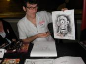 Steve Mannion of Fearless Dawn at Asbury Park Comic Con 2
