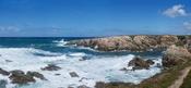 English: The waves at Porto Covo, west coast of Portugal. Stitch of four photos. Français : Des vagues à Porto Covo, côte Ouest du Portugal. Panorama composé de 4 photos.