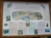 English: Hartpury historic buildings Explanatory sign.