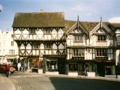 English: Historic buildings in Ludlow