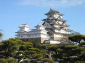 photo of Himeji Castle The Keep Towers(view from Nisi-no-maru) Bahasa Indonesia: Istana Himeji dilihat dari wilayah Nishinomaru