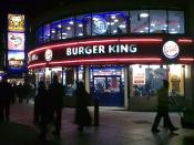 English: Burger King Branch, Leicester Square, London, UK