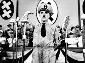 Charlie Chaplin from the film The Great Dictator (with