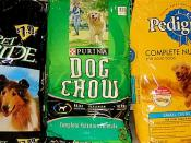 There are many varieties of commercial dog food to choose from.