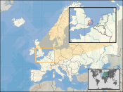 Location of Micronation Principality of Sealand in Europe 2007