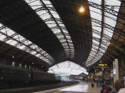 English: Platform 3,Temple Meads station, Bristol, England, designed by Isambard Kingdom Brunel