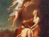 Русский: Изгнанная Агарь с малолетним сыном Измаилом в пустыне. 1785.